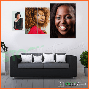 Split Canvas Prints in Nigeria (5 in 1 Panel- 3 Image Insert)