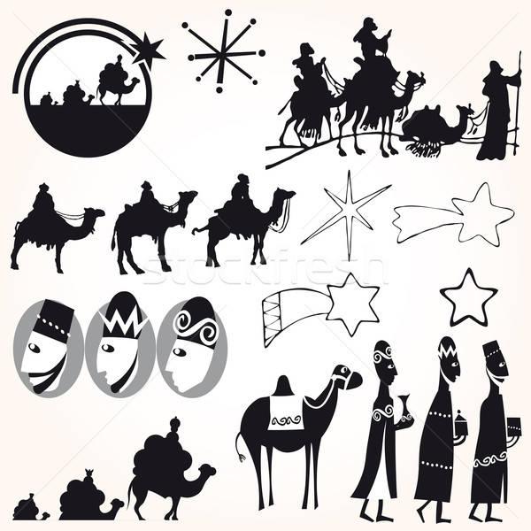 Illustration Vector Star Of Bethlehem Nativity Vector