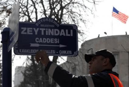 Turkish gov't renames embassy street to protest US support for Kurdish PYD