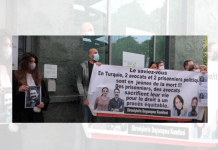 Belgian lawyers protesting in front of Turkish Embassy in Brussels
