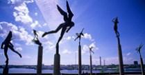 A4RWAE Bronze Statues Millesgarden Lidingo Stockholm Sweden