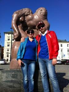 фото с экскурсии в Стокгольме, у морского бога