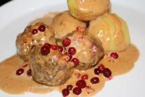 классической блюдо национальной шведской кухни тефтели