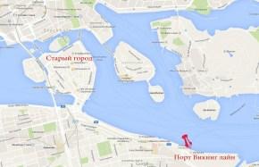 порт викинг лайн на карте Стокгольма
