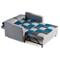 Aspen Sofa Bed Teal Patchwork
