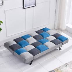 Boston Sofa Bed Teal Patchwork