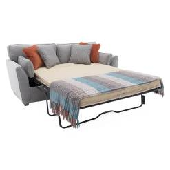 Cantrell 2 Seater Sofa Bed - Silver