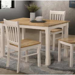 Bolton Cream & Oak Dining Set