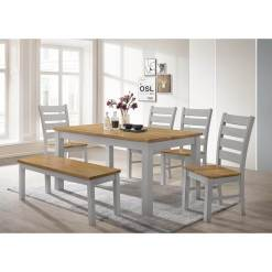 Chelsea Grey & Oak Dining Set1