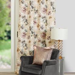 Ava Floral Latte Curtains