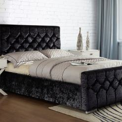 Galaxy Diamante Bed Black