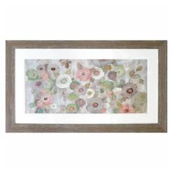 Floral Pink Framed Picture