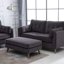 Zurich Grey 2 Seater