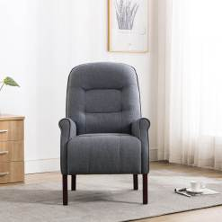 Barna Denim Fabric Armchair
