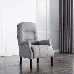 Barna Grey Fabric Armchair