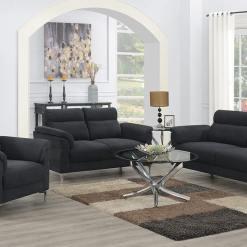 Roxy Dark Grey Sofa Suite