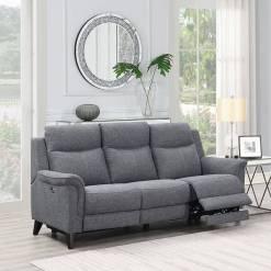 Yara 3 Seater Sofa Grey Fabric