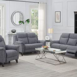 Yara Sofa Suite Grey Fabric