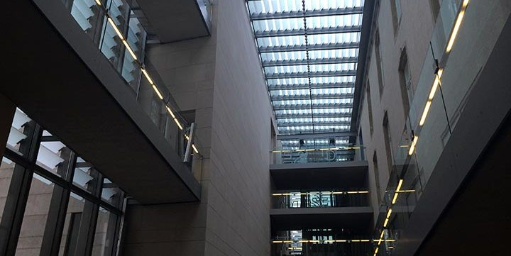 free stock image of modern building interior
