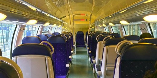 modern train interior free stock image