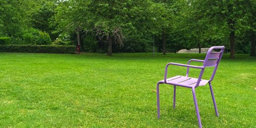 lonely armchair in park free stock image