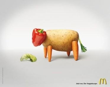 McDonald's ad introducing its veggie burger to Germany