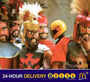 Open 24 hours - Mcdonald's 24 Hour Store Print Ad