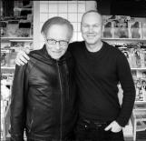 Uwe Duettmann with Larry King in LA.