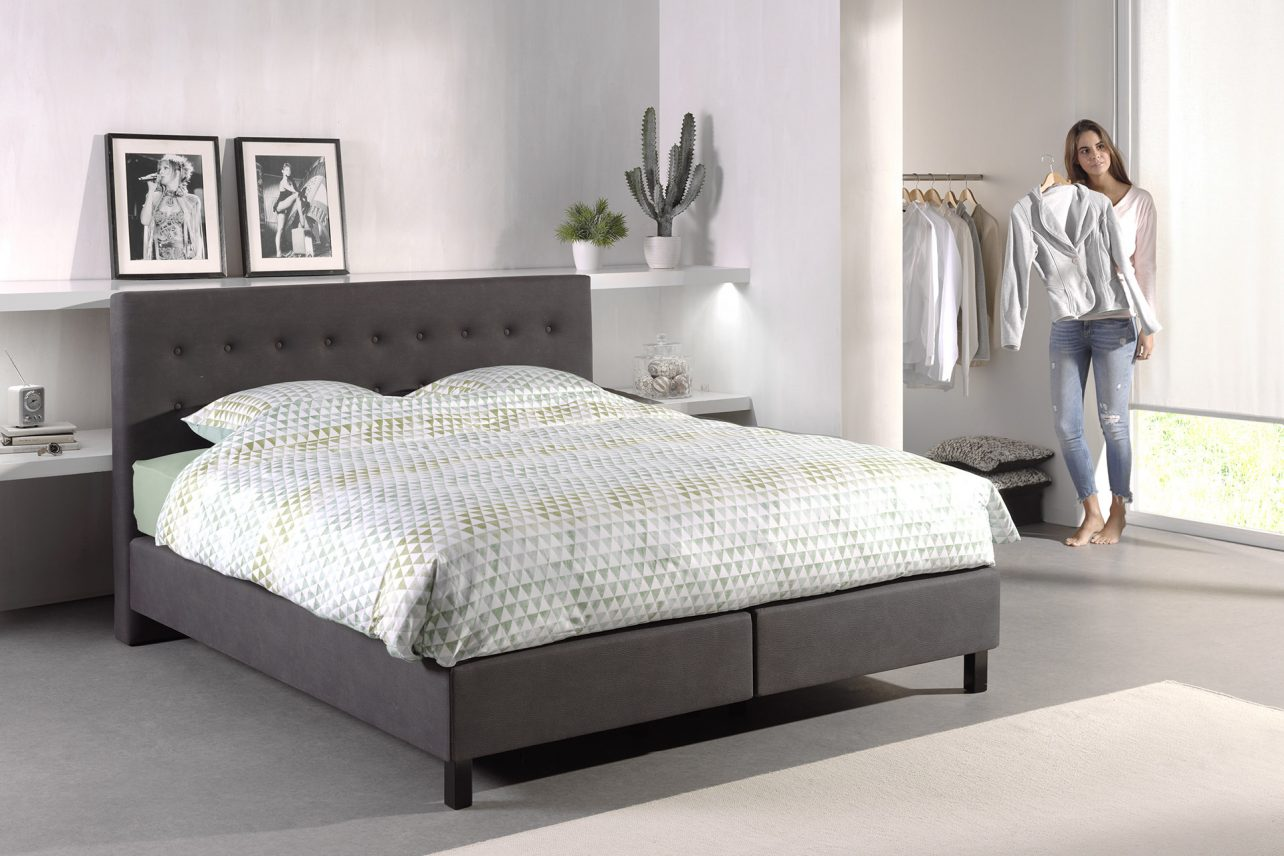 sommiers tapissiers avec tete de lit 180x200