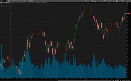 top tech stocks (MSFT stock)