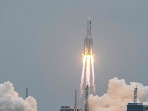 China says most of Long March rocket burned on re-entry to Earth's atmosphere