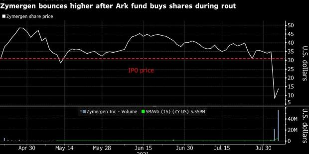 Zymergen Can Thank Cathie Wood for Its Head-Spinning Rebound
