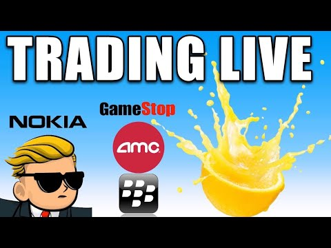 LIVE TRADING SHORT SQUEEZES   AMC Stock, GME Stock Updates And Extra!