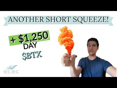 BTX stock quick squeeze! Where I recount it goes from right here