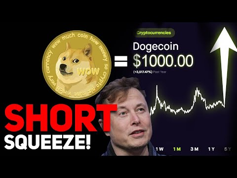 DOGECOIN SHORT SQUEEZE INCOMING? $1000 PER DOGECOIN POSSIBLE? (HUGE DOGECOIN PRICE UPDATE!)