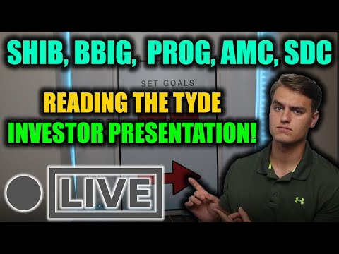TYDE Investor Deck For BBIG Stock IS HERE! SHIB Continues To RUN! Looking At PROG, AMC, ATER + MORE!