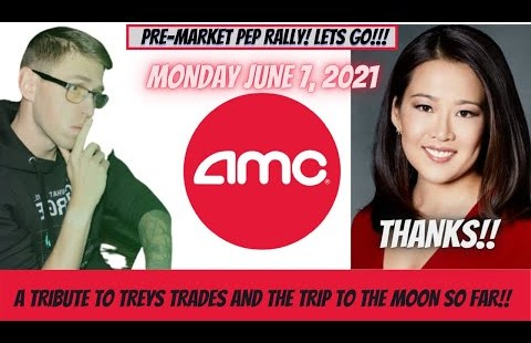 A TRIBUTE TO TREYS TRADES, AND THE TRIP TO THE MOON SO FAR, AMC MONDAY GET PUMPED VIDEO…