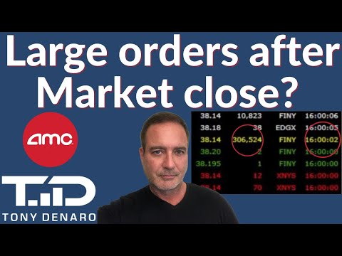 Shadowy Pool MANIPULATION? LARGE orders of AMC right after market shut?