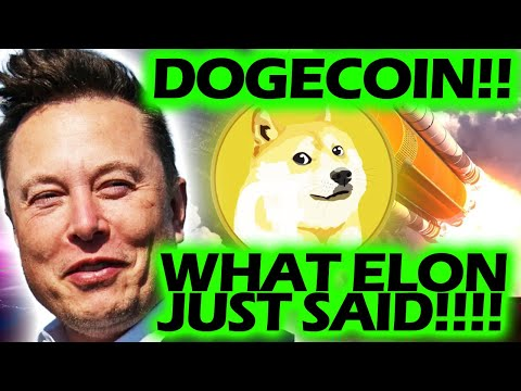 WHAT ELON JUST SAID ABOUT DOGECOIN!!!!! #ELONMUSK #DOGECOIN #BWORD