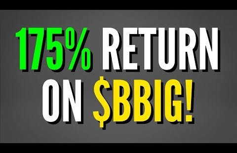 BBIG Stock – WE CALLED IT up 175% in ONE DAY!
