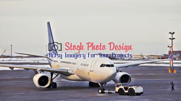 Passenger Plane at Airport