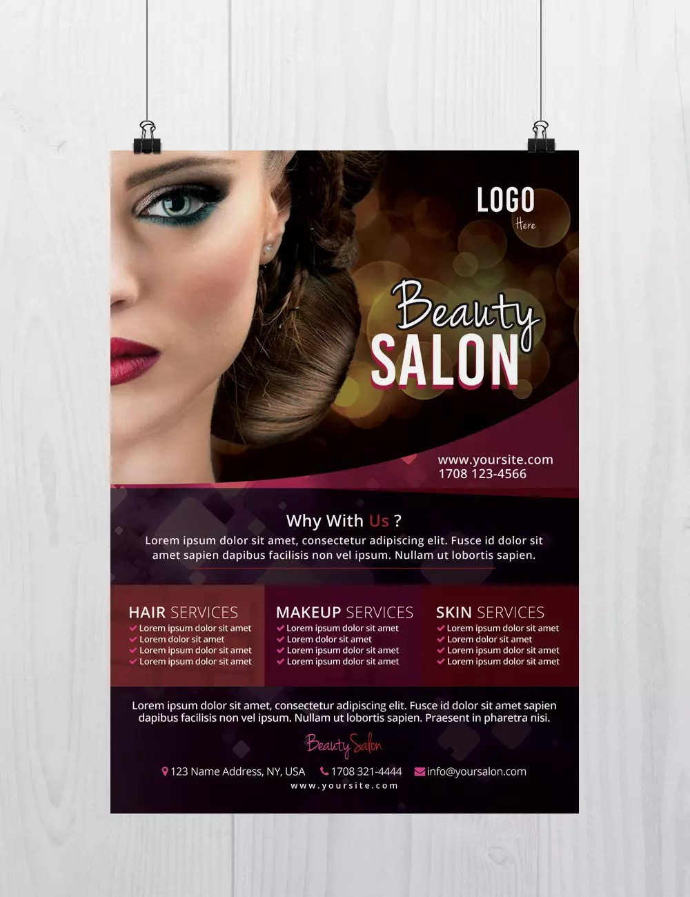 Stockpsd net     Freebie Templates   Beauty Salon   Free PSD Flyer     Download Beauty Salon PSD Flyer Template for Free  Designed by Stockpsd net    This Flyer is suitable for any Beauty Salon  Hair Salon  Make Up or other