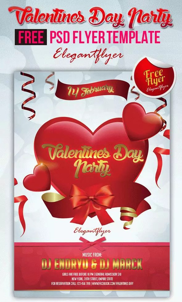 12 Valentines Free Psd Flyers Template To Download For Free