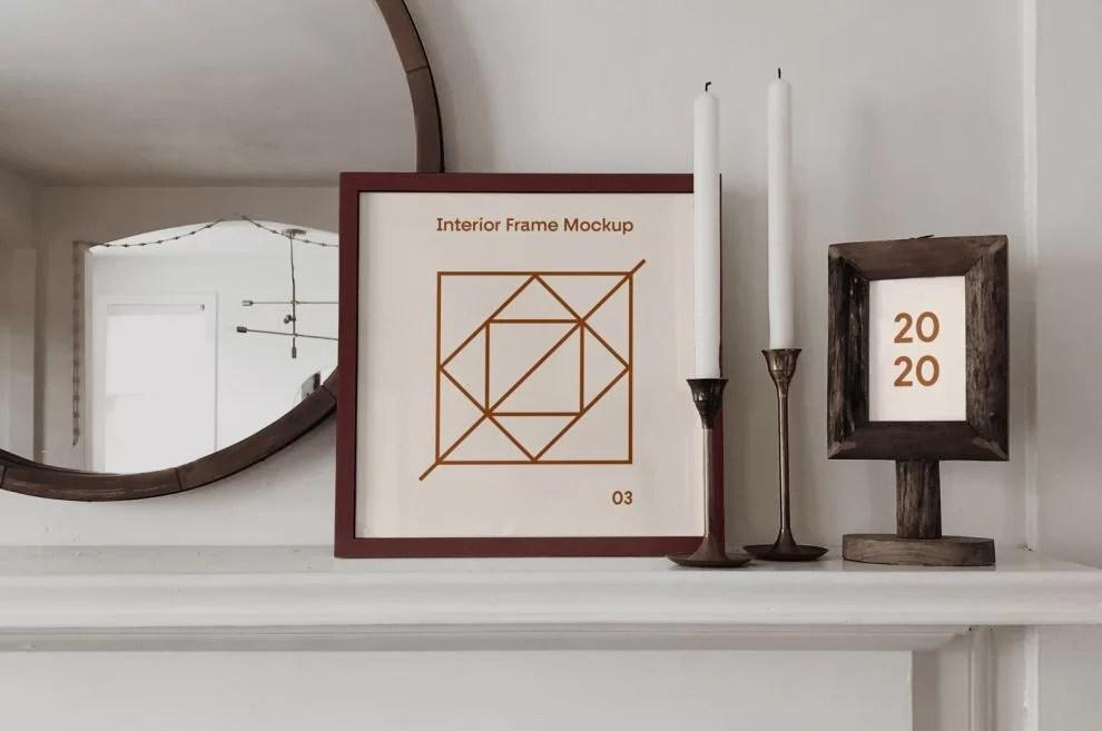 square poster frame free mockup stockpsd