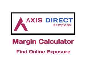Axis Direct Margin Calculator Online in 2019
