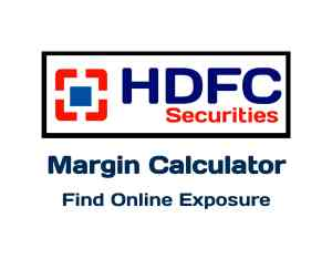 Hdfc Securities Margin Calculator Online in 2019