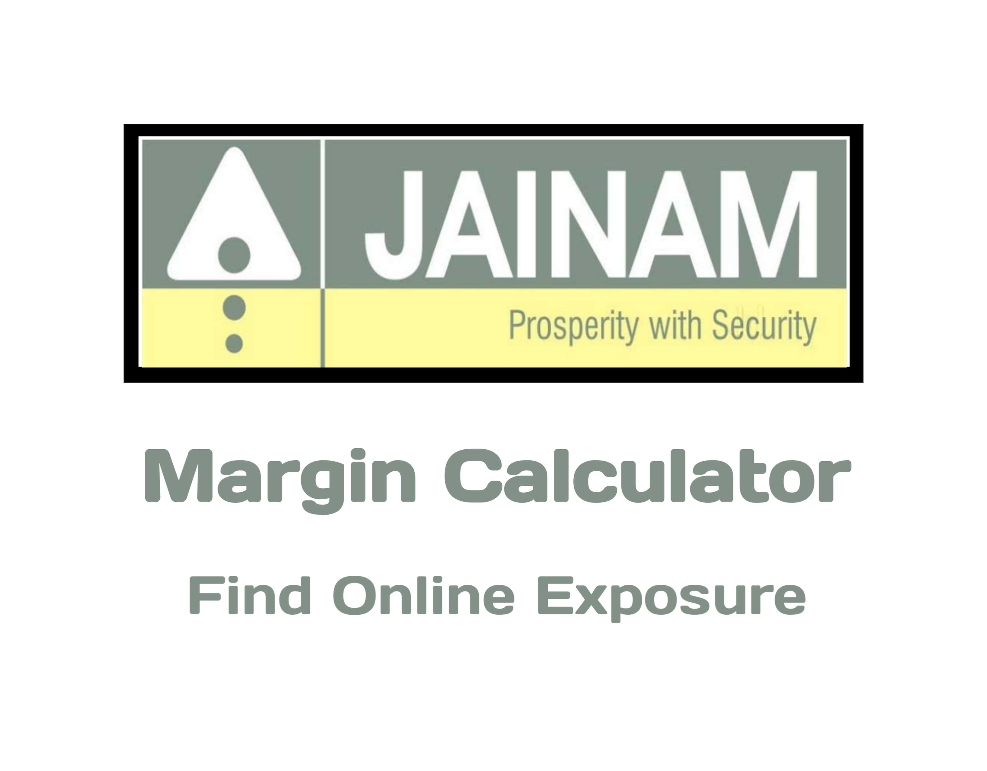 Jainam Securities Margin Calculator