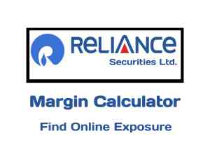 Reliance Securities Margin Calculator Online in 2019