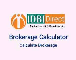 IDBI Brokerage Calculator