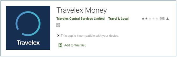Travelex Mobile App: Travelex Money